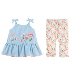 Mud Pie Rosebud Tunic & Capri Set
