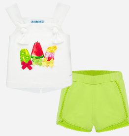 Mayoral Baby Girl Popsicle Shirt & Short Set