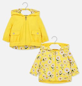 Mayoral Floral Reversible Baby Girl Windbreaker (Yellow)