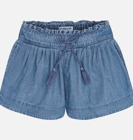 Mayoral Girl Denim Shorts with Drawstring (Blue)