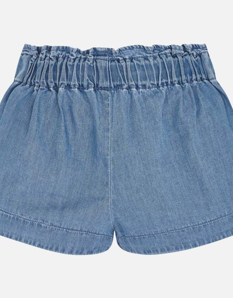 Mayoral Girl Denim Shorts with Drawstring (Blue)
