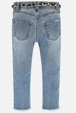 Mayoral Girl Jeans with Belt (Bleached)