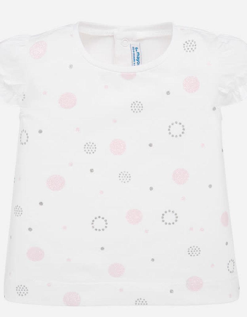 Mayoral Glitter Pattern Baby GIrl T-Shirt (Pink)