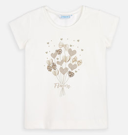 Mayoral Heart Bouquet T-Shirt (Cream)