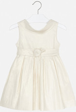 Mayoral Metallic Girl Dress With Bow (Champagne)