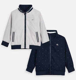 Mayoral Reversible Boy Windbreaker (Navy/Stone)