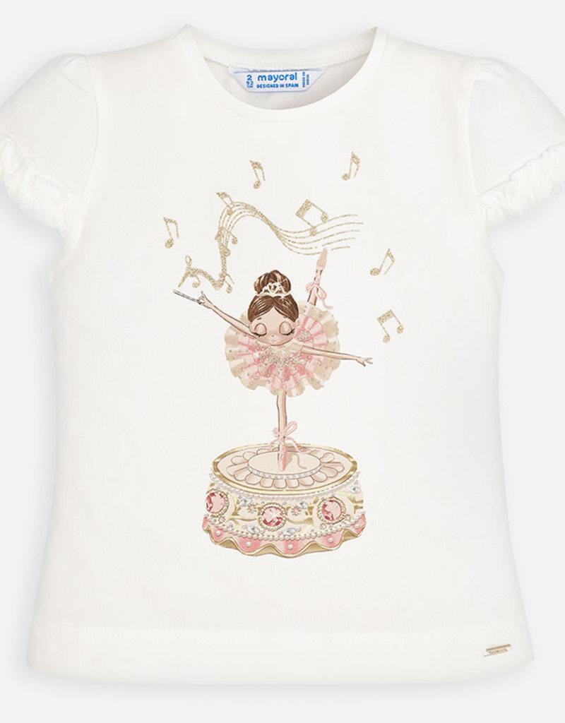 Mayoral Ruffled Ballerina Shirt (White)