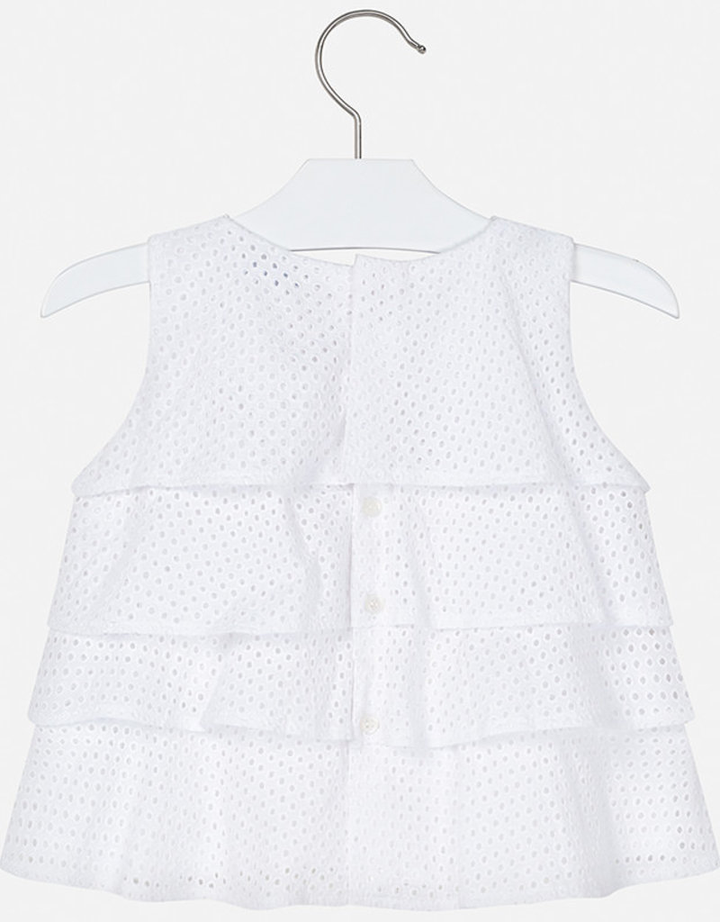 Mayoral Ruffled Blouse for Girl (White)
