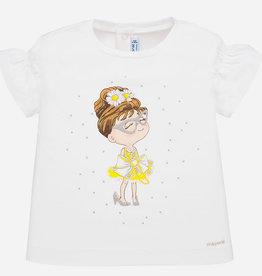 Mayoral Ruffled Graphic Baby Girl T-Shirt (White)