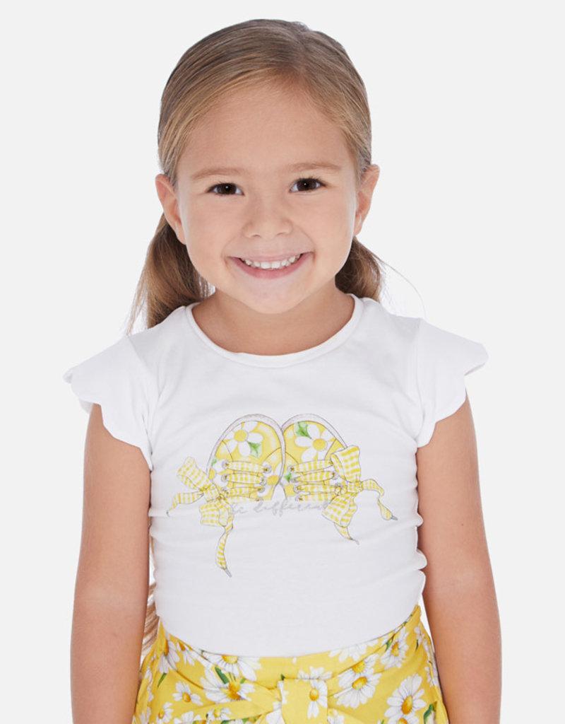 Mayoral Sneaker Bows Girl Shirt (White)
