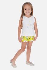 Mayoral Sunflower Girl Short & Shirt Set (Yellow)
