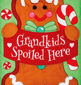 "Grandkids Gingerbread Applique Mini Flag, 12"" x 18"""