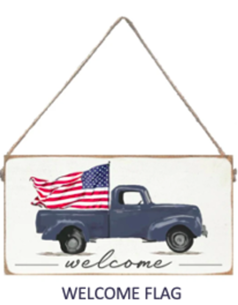 Signs of Hope - Welcome Flag Mini Plank