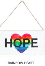 Signs of Hope - Rainbow Hope Heart Mini Plank