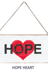 Signs of Hope - Hope Heart Mini Plank
