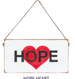 Signs of Hope - Hope Heart Mini Plank