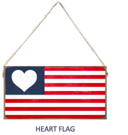 Signs of Hope - Heart Flag Mini Plank