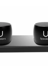 Set of 2 Pro U Speakers with Charging Tray (Black)