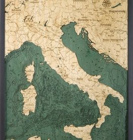 "Woodchart Italy 3-D Nautical Wood Chart 24.5"" x 31"""