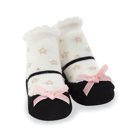 Mud Pie Black Star Socks (0-12 Months)