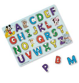 Melissa & Doug Disney Classics Wooden Alphabet Peg Puzzle