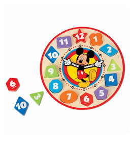 Melissa & Doug Disney Mickey Mouse Wooden Shape Sorting Clock