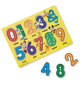 Melissa & Doug Disney Mickey Mouse Numbers Wooden Peg Puzzle