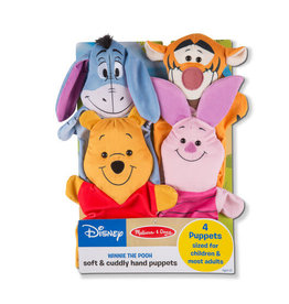 Melissa & Doug Disney Winnie the Pooh Soft & Cuddly Hand Puppets
