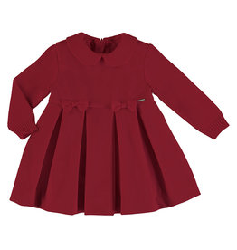 Mayoral Baby Girl Knit Dress with Bows (Red), 24 Months