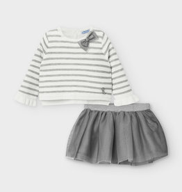 Mayoral Baby Girl 2-Piece Sweater with Tulle Skirt, 12 Months