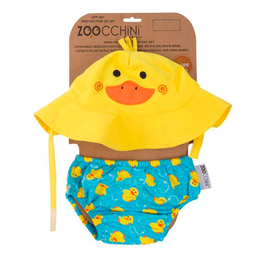 Duck Swim Diaper & Sunhat Set, S 3-6M