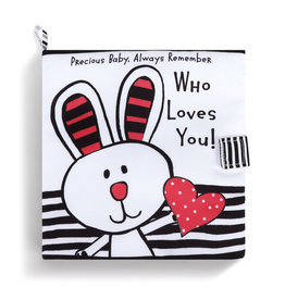 Who Loves You Activity Soft Book, Black & White