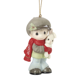 Precious Moments 'Every Bunny Loves A Christmas Hug' 2020 Dated Boy Ornament