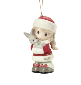 Precious Moments 'Every Bunny Loves A Christmas Hug' 2020 Dated Girl Ornament