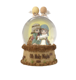 Precious Moments 'Oh Holy Night,' Musical Nativity Snow Globe (Resin/Glass)