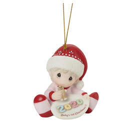 Precious Moments 'Baby's 1st Christmas' 2020 Dated Girl Ornament