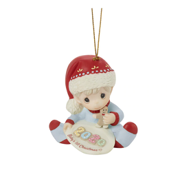 Precious Moments 'Baby's 1st Christmas' 2020 Dated Boy Ornament