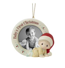 Precious Moments Baby's 1st Christmas Photo Frame Ornament