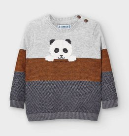 Mayoral Baby Boy Striped Sweater with Panda