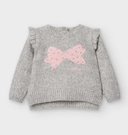 Mayoral Baby Girl Sweater with Applique Bow