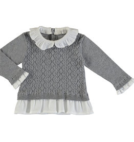 Mayoral Baby Girl Poplin Sweater Shirt (Silver)
