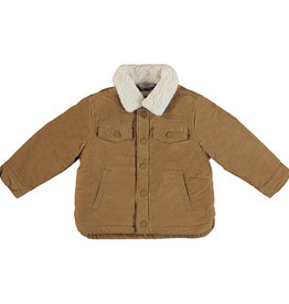 Mayoral Baby Boy Cotton Coat with Fleece Collar (Almond)
