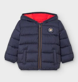 Mayoral Baby Boy Quilted Puffy Coat with Hood (Blue)