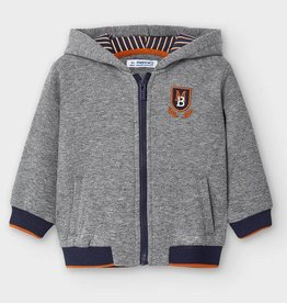 Mayoral Baby Boy Zippered Applique Hoodie