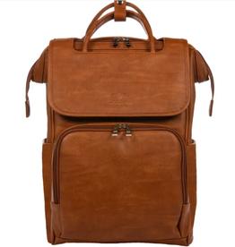 Citi Explorer Vintage Tan Faux Leather Diaper Bag Backpack