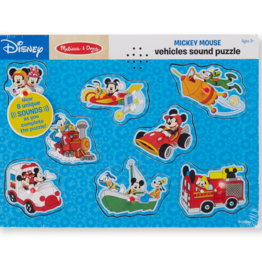 Melissa & Doug Mickey Mouse & Friends Vehicles Wooden Sound Puzzle