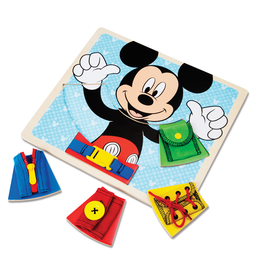 Melissa & Doug Mickey Mouse Wooden Basic Skills Board