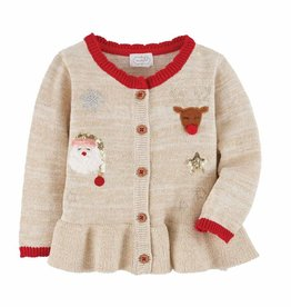 Mud Pie Baby Girl Christmas Cardigan