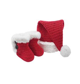 Santa Hat & Boot Slipper Set