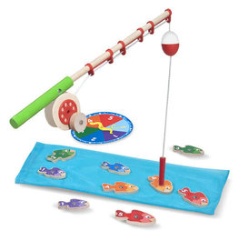 Melissa & Doug Catch & Count Magnetic Fishing Rod Set